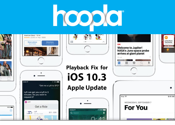 Hoopla Issues with iOS 10.3